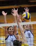 Kaposvar - Eger volleyball game Stock Photography