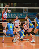 Kaposvar - Eger volleyball game Stock Image