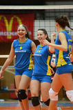 Kaposvar - Eger volleyball game Stock Photo