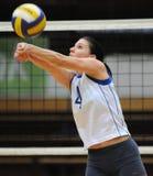 Kaposvar - Eger volleyballspel Stock Foto