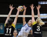 Kaposvar - Eger Volleyballspiel Stockfotos