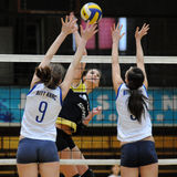 Kaposvar - Eger Volleyballspiel Lizenzfreies Stockfoto