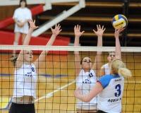 Kaposvar - Eger Volleyballspiel Lizenzfreie Stockfotografie