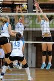 Kaposvar - Eger Volleyballspiel Lizenzfreies Stockbild