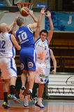 Kaposvar - Fehervar basketball game Stock Photo