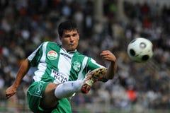 Kaposvar-Ferencvaros soccer game Royalty Free Stock Image