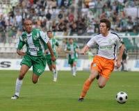 Kaposvar-Ferencvaros soccer game Stock Image