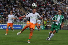 Kaposvar-Ferencvaros soccer game Royalty Free Stock Photography