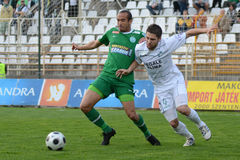Kaposvar - Ferencvaros soccer game Stock Images