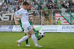 Kaposvar - Ferencvaros soccer game Royalty Free Stock Photography