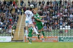 Kaposvar - Ferencvaros soccer game Stock Image