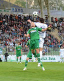 Kaposvar - Ferencvaros soccer game Royalty Free Stock Photos