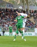 Kaposvar - Ferencvaros soccer game Royalty Free Stock Photos