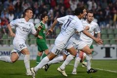 Kaposvar - Ferencvaros soccer game Royalty Free Stock Photography