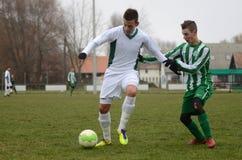 Kaposvar - Ferencvaros U16 soccer game Stock Photo
