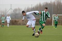 Kaposvar - Ferencvaros U16 soccer game Royalty Free Stock Photos