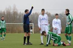 Kaposvar - Ferencvaros U16 soccer game Stock Images