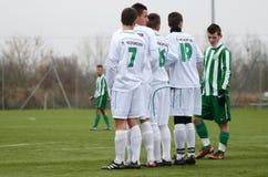 Kaposvar - Ferencvaros U16 soccer game Royalty Free Stock Photography
