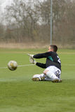 Kaposvar - Ferencvaros U16 soccer game Royalty Free Stock Photo