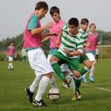 Kaposvar - Ferencvaros U17 soccer game Stock Photos