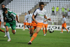 Kaposvar-Ferencvaros voetbalspel Stock Afbeeldingen