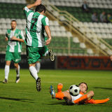 Kaposvar - Gyor soccer game Royalty Free Stock Images