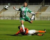 Kaposvar - Gyor soccer game Stock Photo