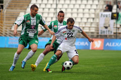 Kaposvar - Gyor soccer game Stock Photos