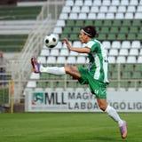 Kaposvar - Gyor soccer game Royalty Free Stock Photos