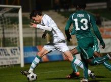 Kaposvar - Gyor soccer game Stock Image