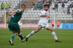 Kaposvar - Gyor soccer game Royalty Free Stock Photography