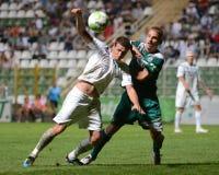 Kaposvar - Gyor soccer game Royalty Free Stock Photo