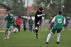 Kaposvar - Gyor U15 soccer game Royalty Free Stock Images