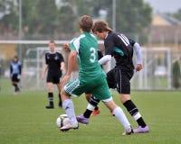 Kaposvar - Gyor U15 soccer game Royalty Free Stock Photos
