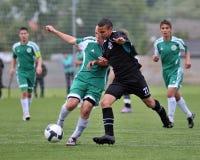 Kaposvar - Gyor U15 soccer game Stock Image