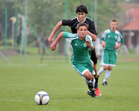 Kaposvar - Gyor U15 soccer game Stock Images