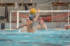 Kaposvar - Hegyvidek waterpolo game Stock Photo