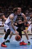 Kaposvar - het basketbalspel van Pecs Stock Fotografie