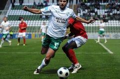 Kaposvar - Honved soccer game Royalty Free Stock Images