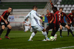 Kaposvar - Honved soccer game Royalty Free Stock Image