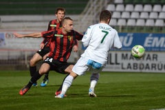 Kaposvar - Honved soccer game Stock Photos