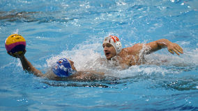 Kaposvar - Honved water-polo game Stock Photos