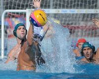 Kaposvar - Honved waterpolo game Royalty Free Stock Images