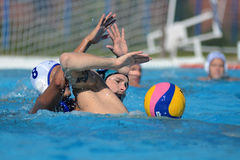 Kaposvar - Honved waterpolo game Stock Images