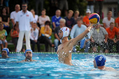 Kaposvar - Honves water-polo game Stock Photos