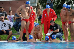 Kaposvar - Honves water-polo game Royalty Free Stock Images
