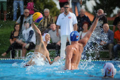Kaposvar - Honves water-polo game Stock Images