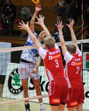 Kaposvar - hotVolleys volleyball game Royalty Free Stock Images