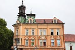 Kaposvar, Hungary. Old Town architecture. Apartment building Stock Photo