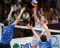 Kaposvar - Innsbruck  volleyball game Royalty Free Stock Photo